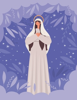Illustration von mutter maria