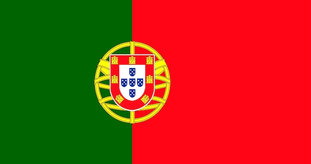 Illustration von portugal flagge