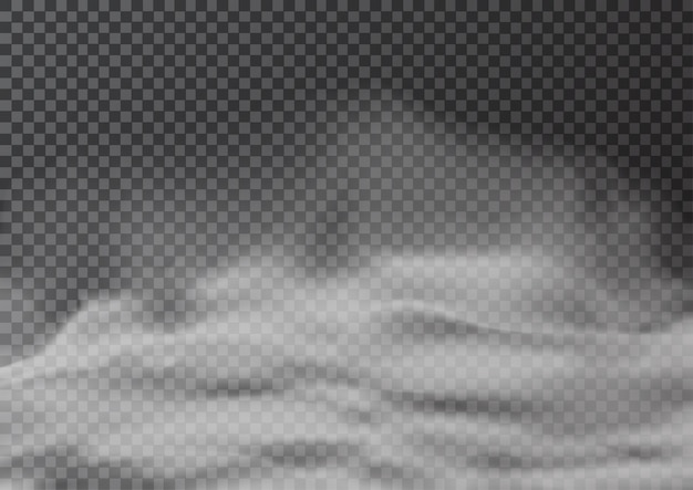 Illustration von realistischem rauch oder nebel