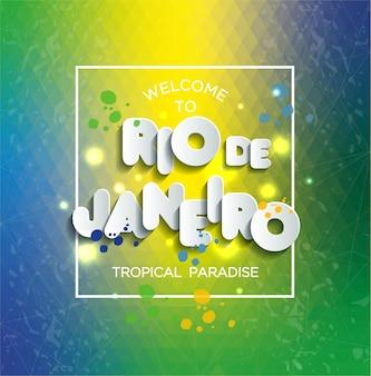 Illustration von rio de janeiro von brasilien auf farbhintergrund