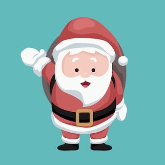 Illustration von santa claus fröhlich winken