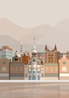 Illustration von spanischen sehenswürdigkeiten