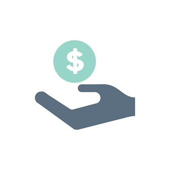 Illustration von spendensupportikonen
