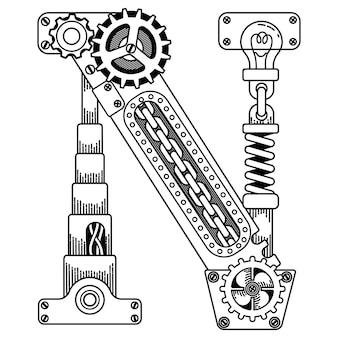 Illustration von steampunk malbuch für erwachsene