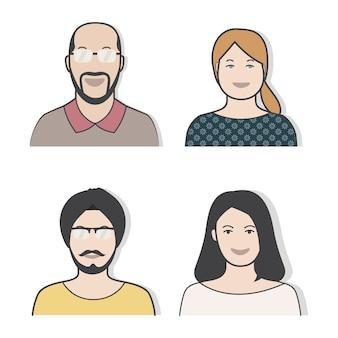 Illustration von verschiedenen leuten