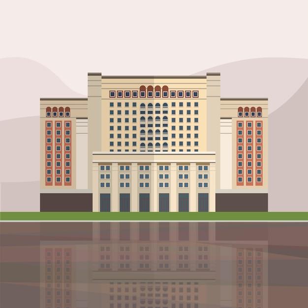 Illustration von vier jahreszeiten hotel moskau
