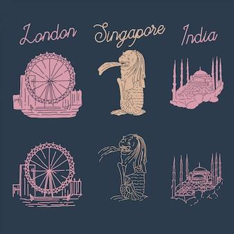 Illustration von wahrzeichen london