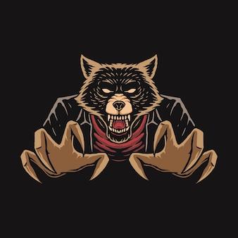 Illustration von werwolf