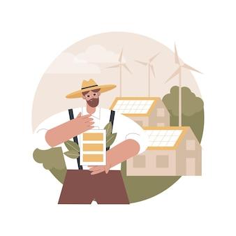 Illustration zu erneuerbaren energien