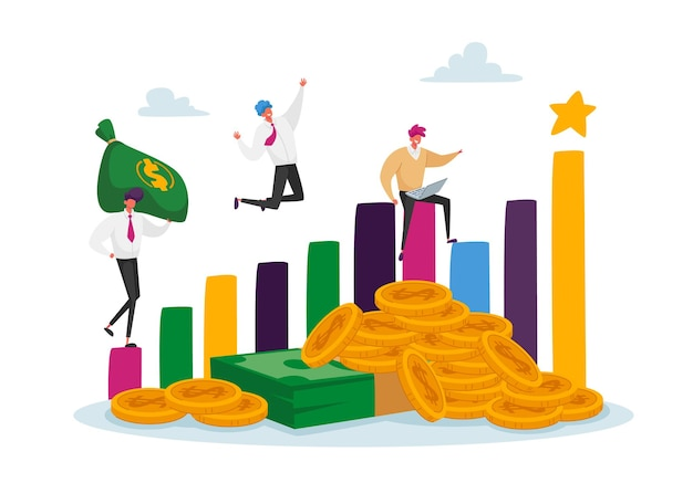 Illustration zu profitablen investitionen