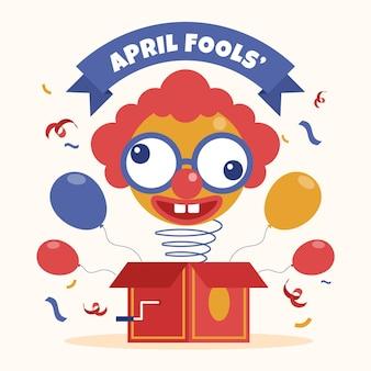 Illustration zum aprilscherz