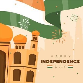 Illustration zum indischen unabhängigkeitstag