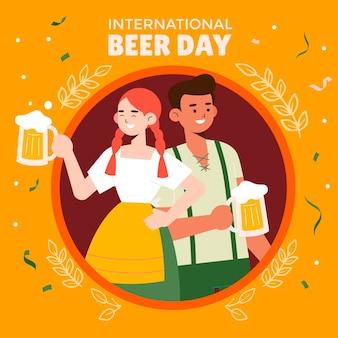 Illustration zum internationalen biertag
