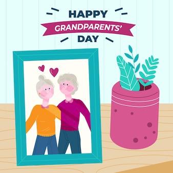 Illustration zum tag der nationalen großeltern