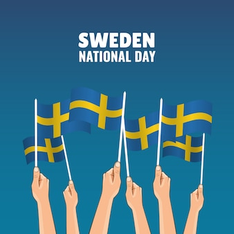 Illustration zum thema schweden nationalfeiertag