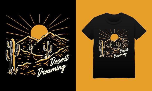Illustration zum träumen in der wüste