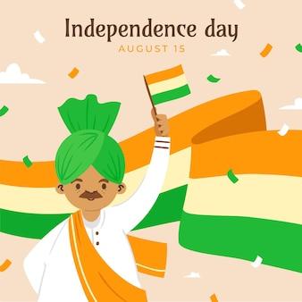 Illustration zum unabhängigkeitstag von indien