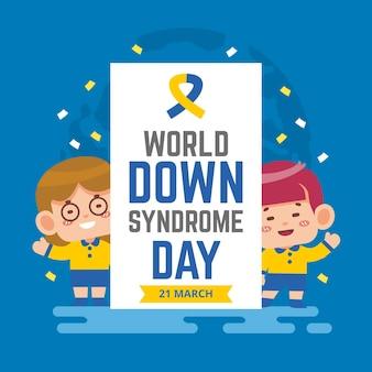 Illustration zum welt-down-syndrom-tag