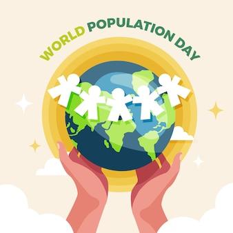 Illustration zum weltbevölkerungstag