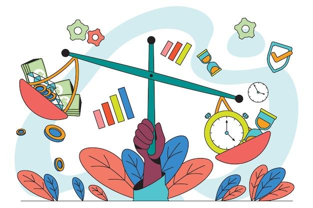 Illustration zur geschäftsethik