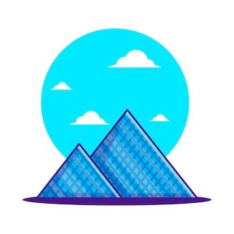 Illustrationen der louvre-pyramide