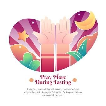 Illustrationen der multiplikation von gebeten im monat ramadan