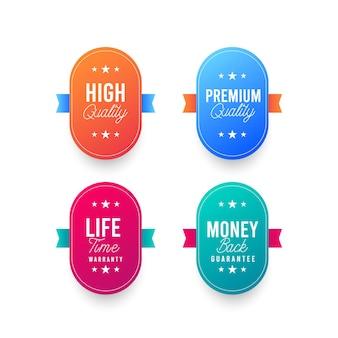 Illustrationen des premium-logo-stempel-designs
