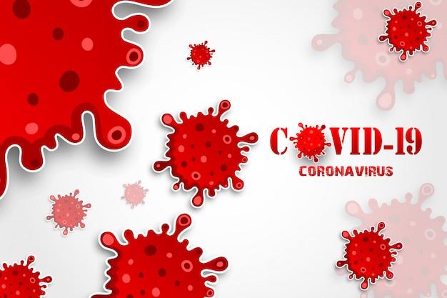 Illustrationen konzept coronavirus-krankheit covid-19