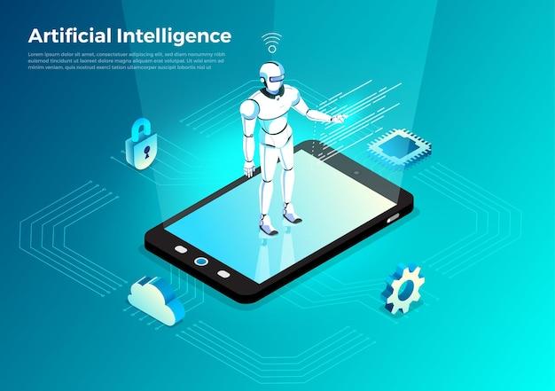 Illustrationen konzept künstliche intelligenz ki