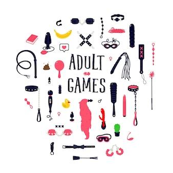 Illustrationen und icons von sexspielzeug