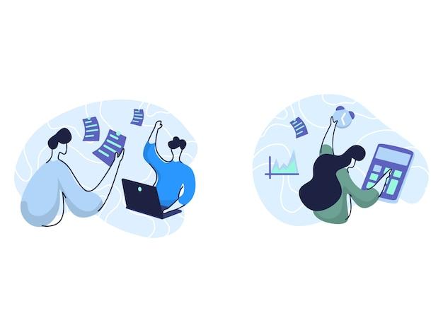 Illustrationen zur geschäftsplanung