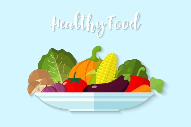 Illustrations-gemüse-gesundes lebensmittel