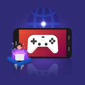 Illustrations-konzept spiel-streaming