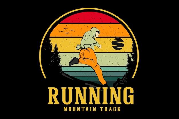 Illustrationsdesign für laufende bergstrecken