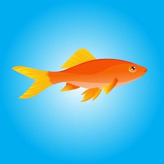 Illustrationsgoldfischvektorhand gezeichnet für bilderbuchbildung in der schule