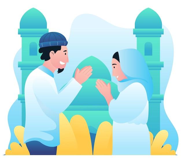 Illustrationsgrafik der eid mubarak-aktivität