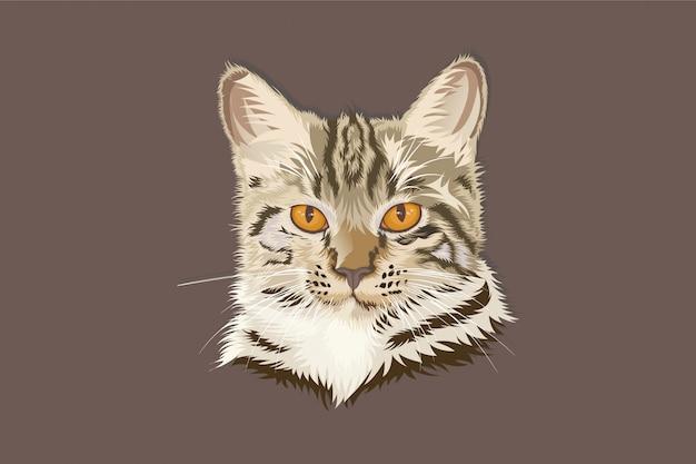 Illustrationskarikaturkopfkatzenhandzeichnung