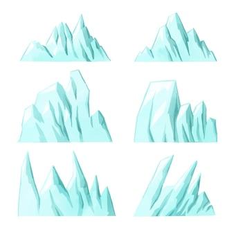 Illustrationskonzept der eisbergsammlung