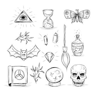 Illustrationskonzept der esoterischen elemente