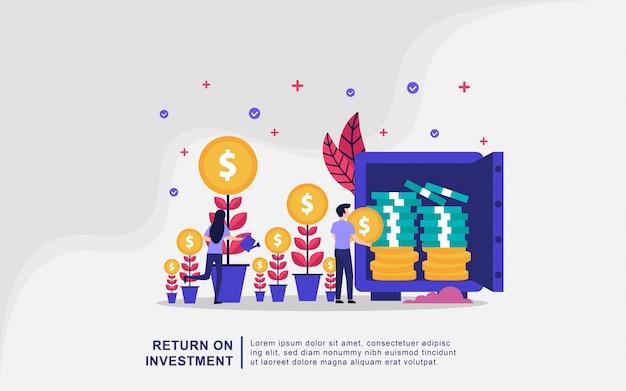 Illustrationskonzept der investition