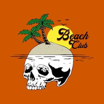 Illustrationskonzept des strandclubs