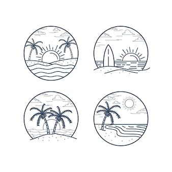 Illustrationskonzept des strandes