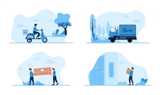 Illustrationskonzept für den schnellen lieferservice