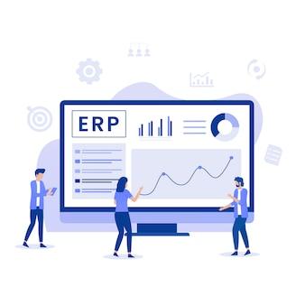 Illustrationskonzept für die erp enterprise-ressourcenplanung