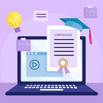 Illustrationskonzept für online-zertifizierung