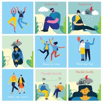 Illustrationskonzept für psychische gesundheit.