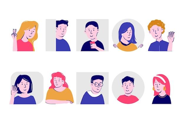 Illustrationskonzept mit menschen gucken