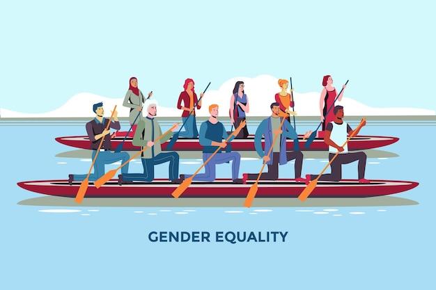 Illustrationskonzept zur gleichstellung der geschlechter