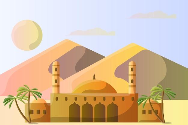 Illustrationslandschaft der muhammad ali moschee ägypten für eine touristenattraktion
