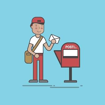 Illustrationssatz der postlieferung